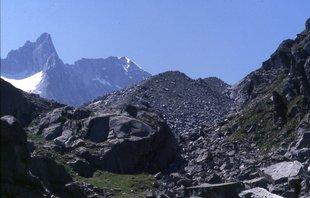 Morene della Piccola Età Glaciale del ghiacciaio d'Amola (foto R. Tomasoni)