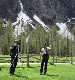 operatori del Parco effettuano radiotracking e osservazioni a vista (F.Zibordi)