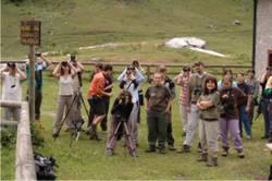 Partecipanti ad un corso sulla fauna alpina (F.Zibordi)