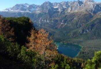 Lago di Tovel da monte Corno Val di Non foto Enrico Dorigatti