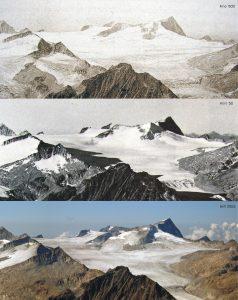 evoluzione dei ghiacciai dell'Adamello