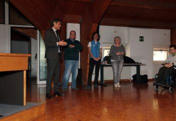 Collaborazione Anffas saluto ai ragazzi (foto Fabrizio, volontario