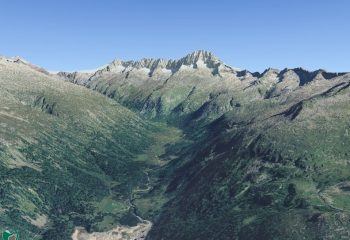 Visualizzazione digitale 3D della Val di Fumo