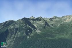 Visualizzazione 3D - Valle dello Sporeggio e Gruppo della Campa