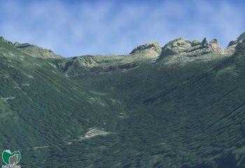 Visualizzazione digitale 3D di Vallesinella