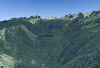 Visualizzazione digitale 3D della Val di Tovel