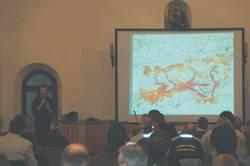 uno degli oratori parla della metapopolazione (F.Zibordi)