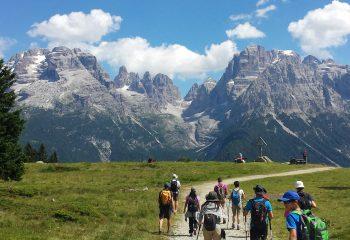 Panorama sulle Dolomiti di Brenta