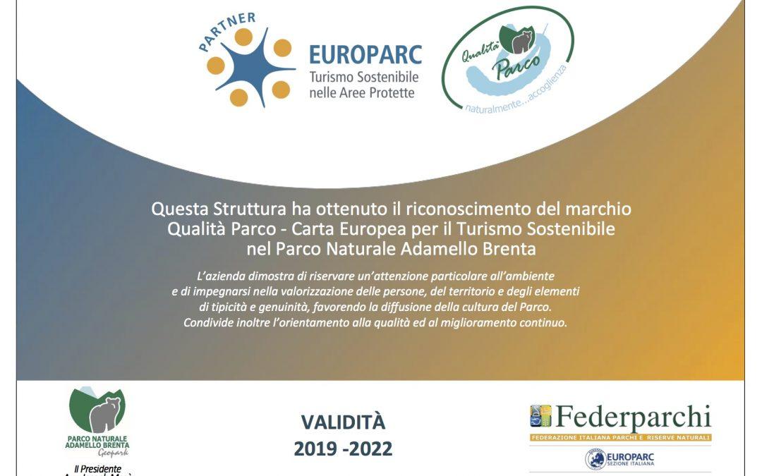 """Il marchio """"Qualità Parco – CETS"""" ad altre cinque strutture ricettive"""