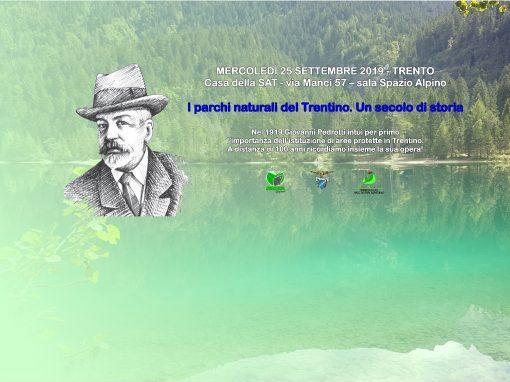 Mercoledì 25 settembre – Trento: un convegno per celebrare i 100 anni dei parchi naturali trentini