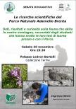 """""""Le ricerche scientifiche del Parco Naturale Adamello Brenta"""" serata divulgativa il 30 novembre"""