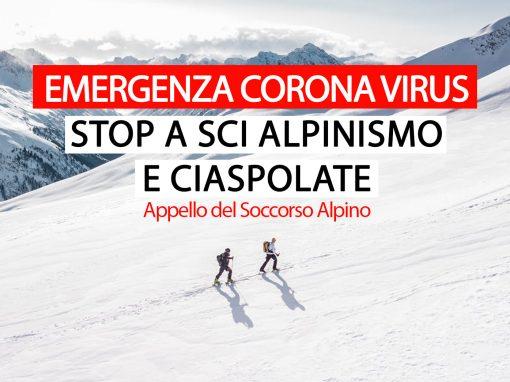 """COVID-19 """"Rimanete a casa"""" è l'appello del Soccorso Alpino"""