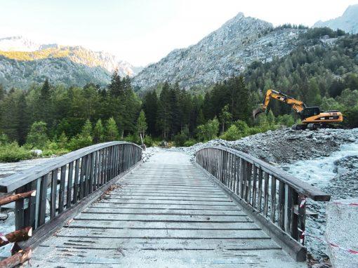 Aggiornamento sull'agibilità della strada in Val Genova, a seguito degli smottamenti del 10 agosto
