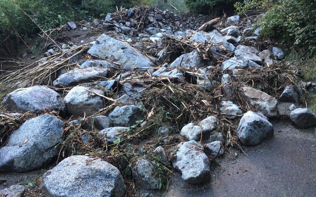 Aggiornamento sull'accessibilità di alcune valli del Parco a causa del maltempo