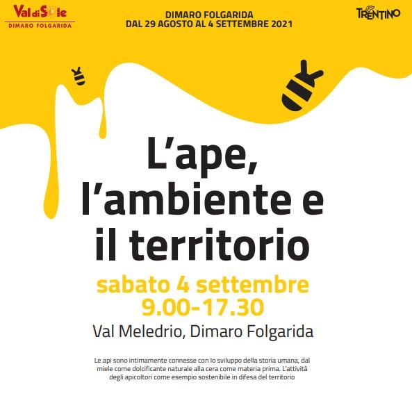 """""""L'ape, l'ambiente e il territorio"""" sabato 4 settembre in Val Meledrio"""